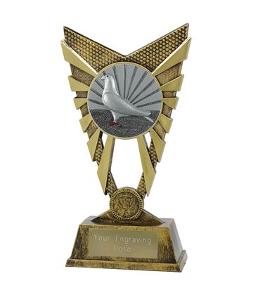"Valiant Pigeon Racing Trophy Gold 23cm (9"")"