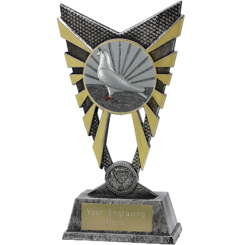 "Valiant Pigeon Racing Heavyweight Trophy Silver 23cm (9"")"