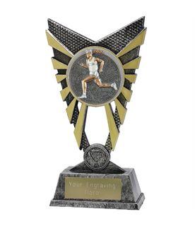 "Valiant Male Running Trophy Silver 23cm (9"")"