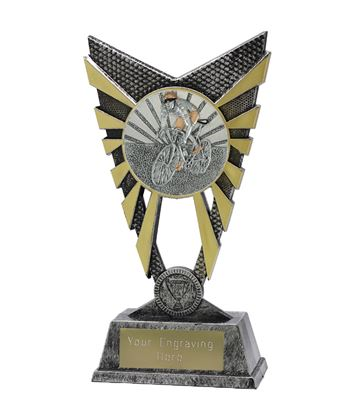 "Valiant Cycling Trophy Silver 23cm (9"")"