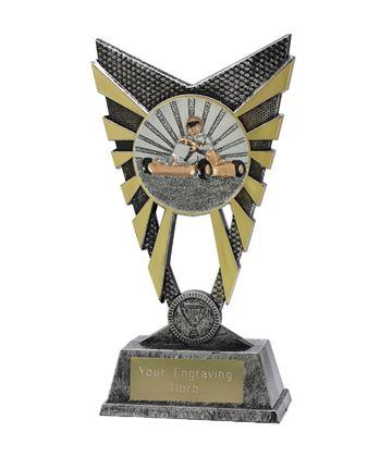 "Valiant Go Karting Trophy Silver 23cm (9"")"