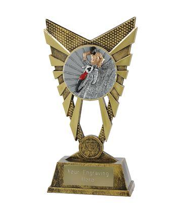 "Valiant Motocross Trophy Gold 23cm (9"")"