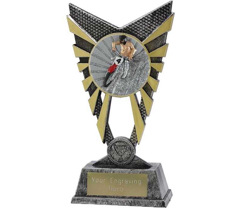 "Valiant Motocross Trophy Silver 23cm (9"")"