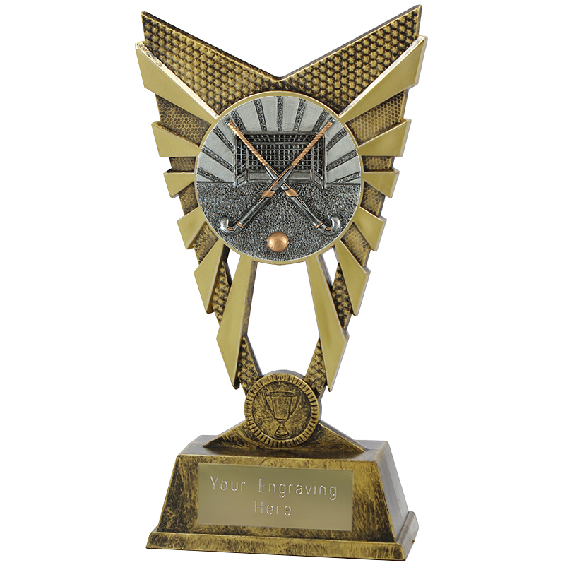 "Valiant Hockey Heavyweight Trophy Gold 23cm (9"")"