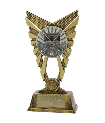 "Valiant Hockey Trophy Gold 23cm (9"")"