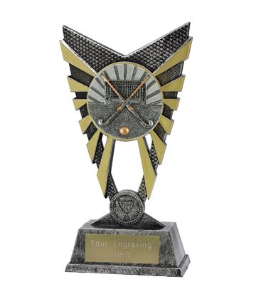 "Valiant Hockey Trophy Silver 23cm (9"")"