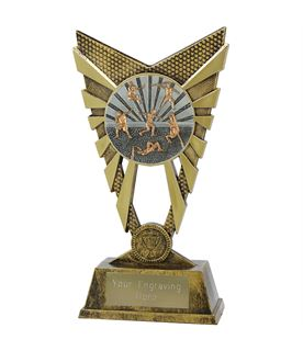 """Valiant Track and Field Trophy Gold 23cm (9"""")"""