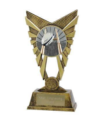 "Valiant Rugby Trophy Gold 23cm (9"")"