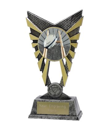 """Valiant Rugby Trophy Silver 23cm (9"""")"""