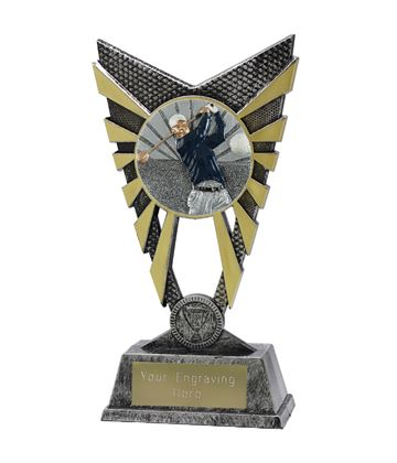 "Valiant Golf Trophy Silver 23cm (9"")"