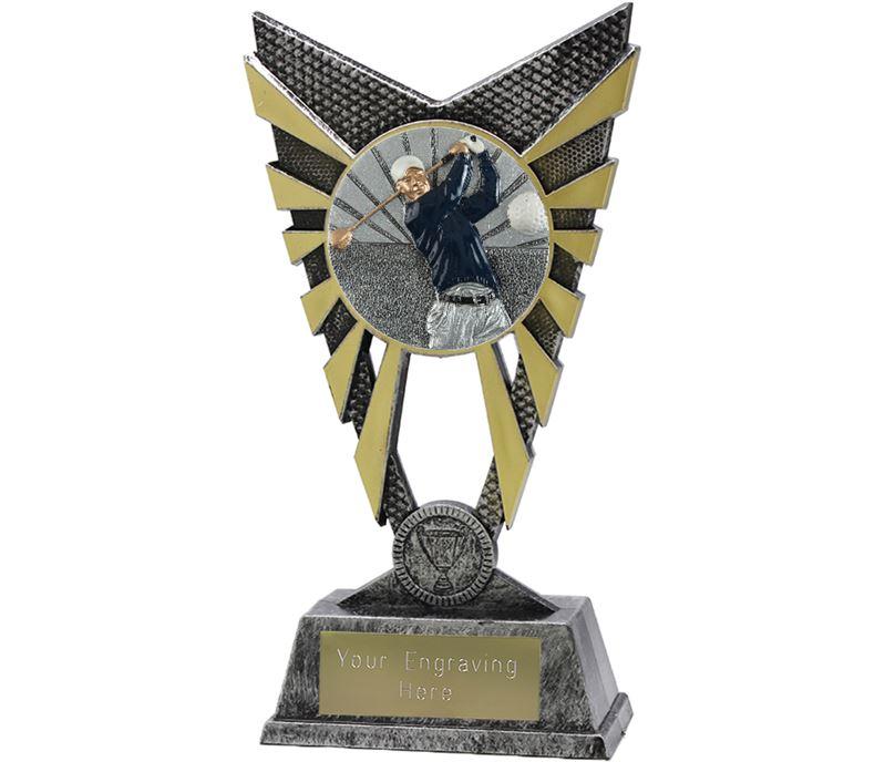 """Valiant Golf Trophy Silver 23cm (9"""")"""