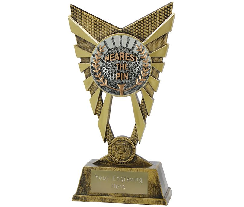 "Valiant Nearest the Pin Golf Trophy Gold 23cm (9"")"