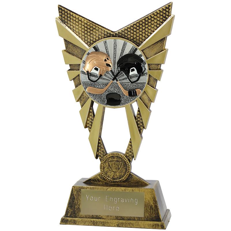 "Valiant Ice Hockey Heavyweight Trophy Gold 23cm (9"")"