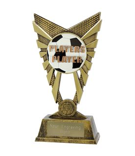 """Valiant Players Player Trophy Gold 23cm (9"""")"""