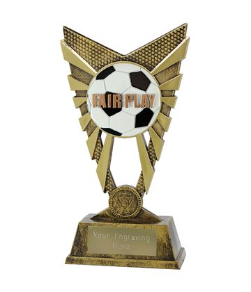 "Valiant Fair Play Trophy Gold 23cm (9"")"