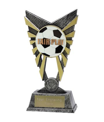 "Valiant Fair Play Trophy Silver 23cm (9"")"