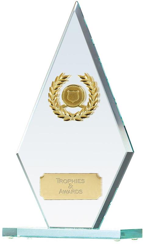 "Pointer Jade Glass Award 19cm (7.5"")"