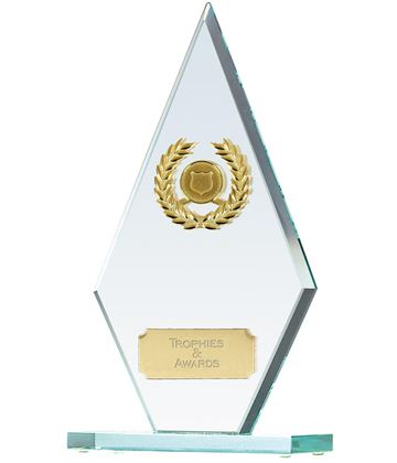 "Pointer Jade Glass Award 19cm (7.5"")"