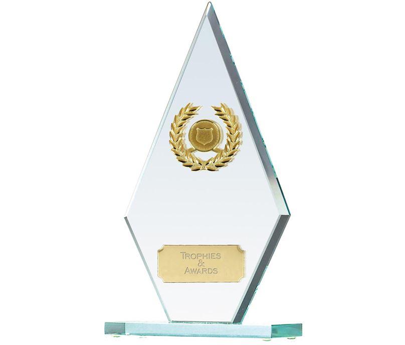 "Pointer Jade Glass Award 22cm (8.75"")"