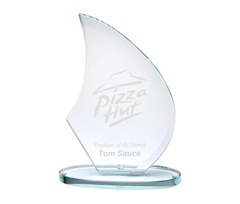 "Jade Mirror Epic Sail Glass 21cm (8.25"")"