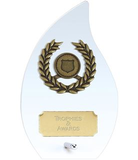 "Hope Flame Clear Glass Award 12cm (4.75"")"