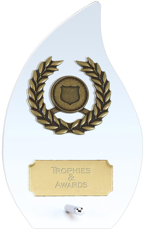 """Hope Flame Clear Glass Award 14cm (5.5"""")"""