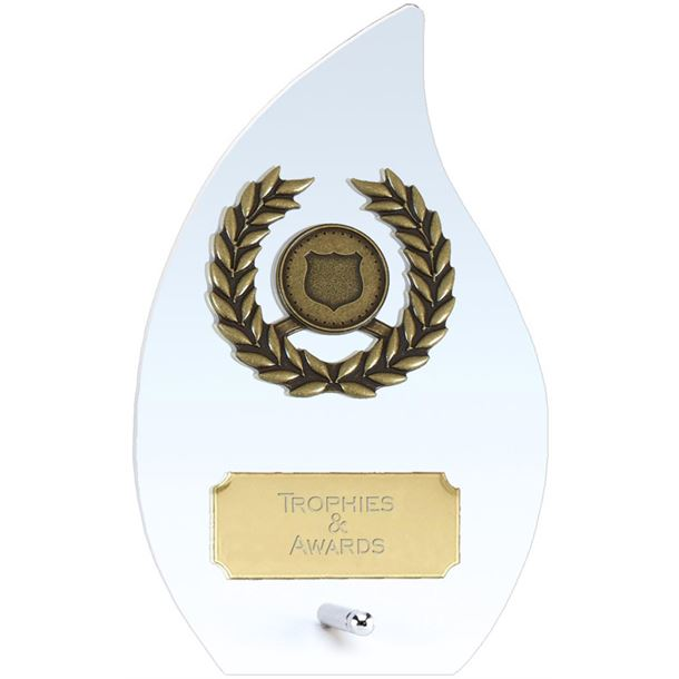 "Hope Flame Clear Glass Award 14cm (5.5"")"