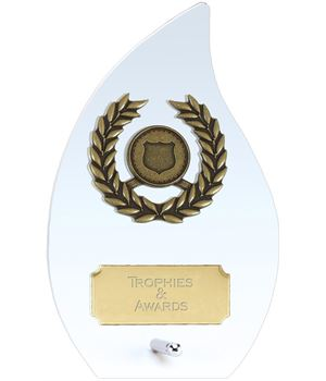 "Hope Flame Clear Glass Award 16cm (6.25"")"
