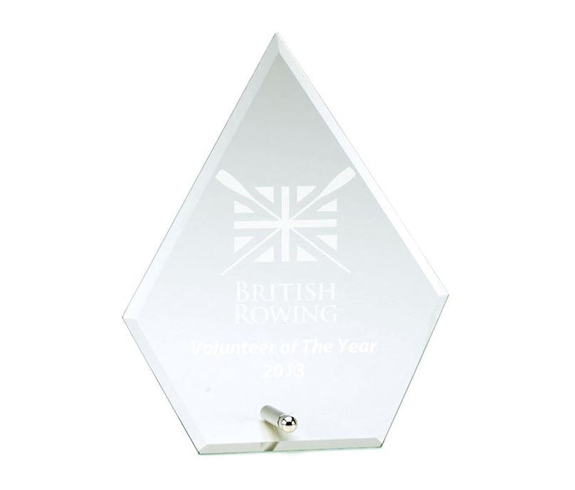 "Single Point Jade Glass Plaque Award 14.5cm (5.75"")"