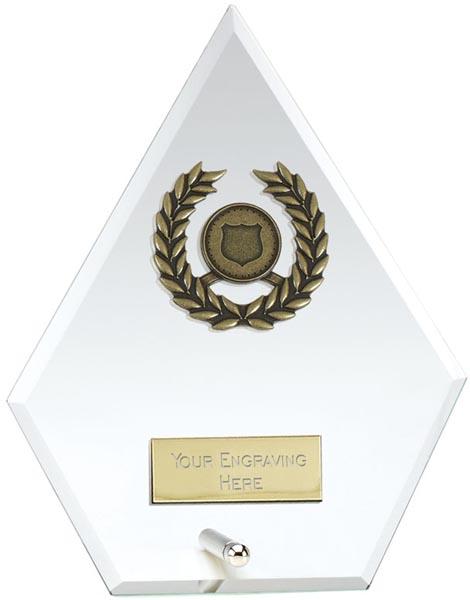 "Pentagon Pointed Jade Glass Award 14.5cm (5.75"")"