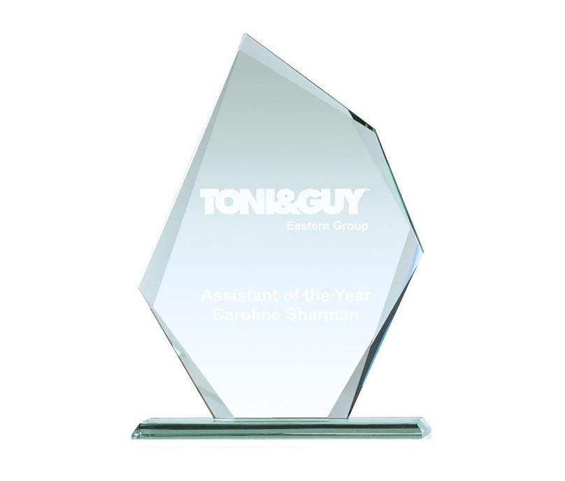 """Thick Paragon Jade Glass Plaque Award 19cm (7.5"""")"""