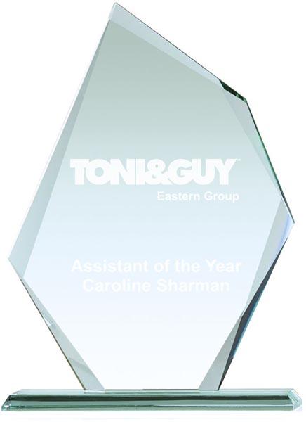 """Thick Paragon Jade Glass Plaque Award 28.5cm (11.25"""")"""