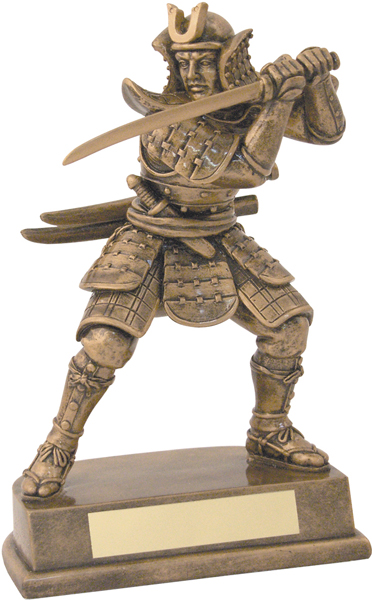 "Gold Samurai Warrior Martial Arts Trophy 20.5cm (8"")"