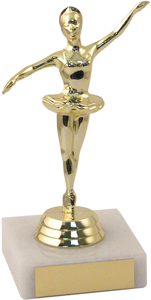"Gold Ballerina Trophy 13.5cm (5.25"")"