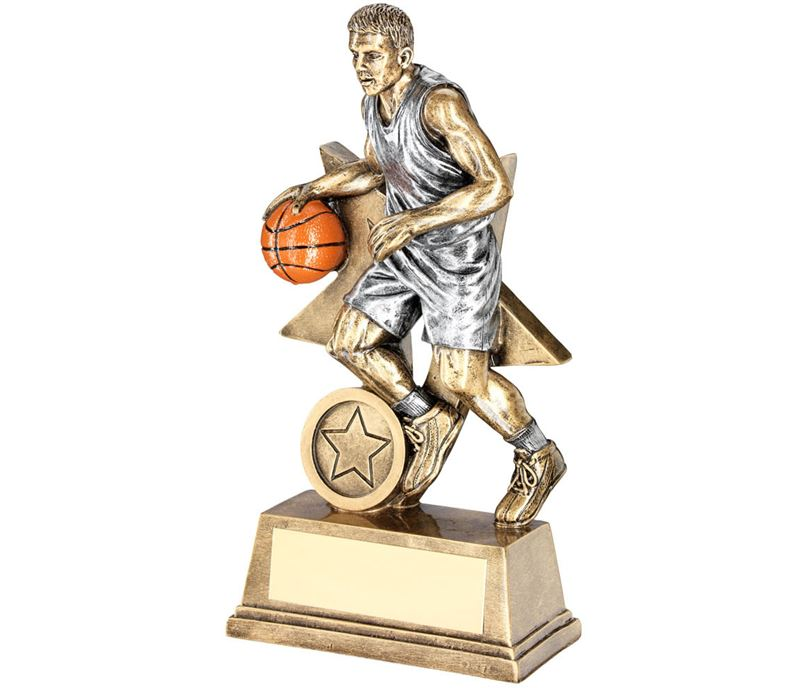 """Male Action Basketball Figure Trophy 18cm (7"""")"""