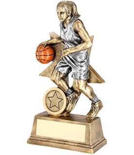 "Female Action Basketball Figure Trophy 15cm (6"")"