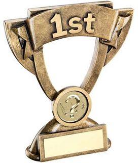 """1st Place Mini Cup Banner Trophy 12.5cm (5"""")"""