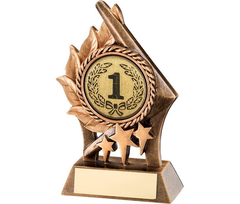 "Gold Resin Leaf & Stars Multi Award Trophy 17cm (6.75"")"