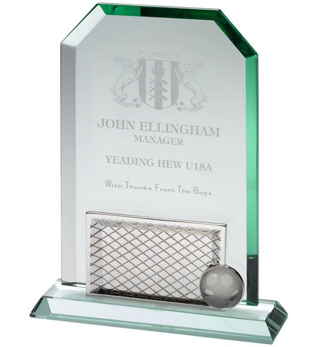 "Jade Glass Rectangle Football 25cm (9.75"")"