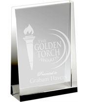 "Heavyweight Optical Crystal Guardian Wedge Plaque Award 12.5cm (5"")"