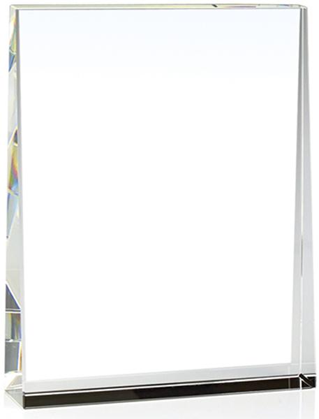 "Heavyweight Optical Crystal Guardian Wedge Plaque Award 7.5cm (3"")"
