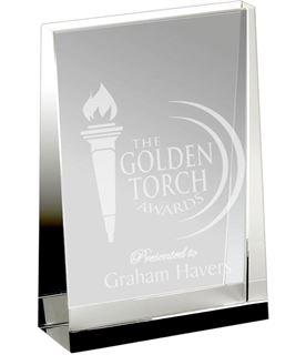 "Heavyweight Optical Crystal Guardian Wedge Plaque Award 17.5cm (7"")"