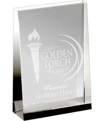 "Heavyweight Optical Crystal Guardian Wedge Plaque Award 17.5cm (7"")"