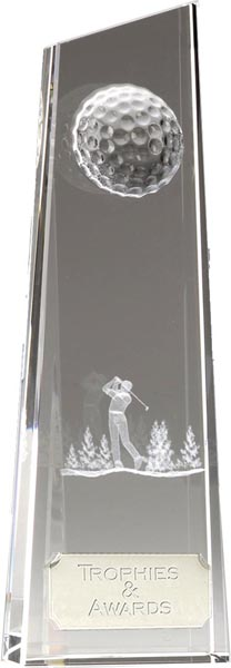 "Optical Crystal Golfer on Fairway 18cm (7"")"