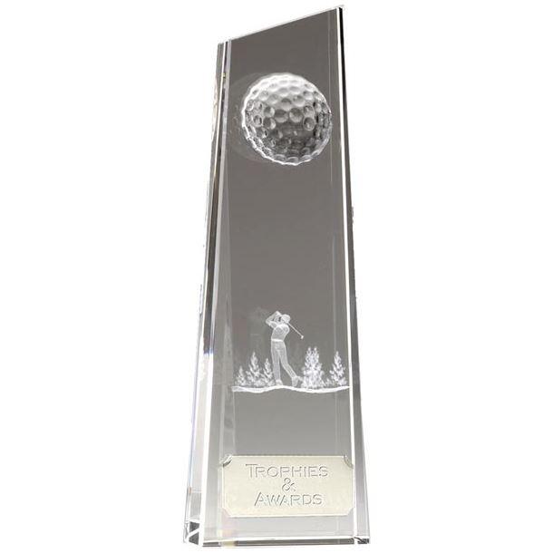 """Optical Crystal Golfer on Fairway 18cm (7"""")"""