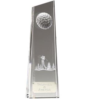 "Optical Crystal Golfer on Fairway 22cm (8.75"")"