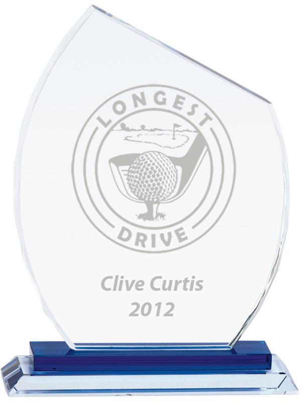 """Carnival Jade Glass Award 16.5cm (6.5"""")"""