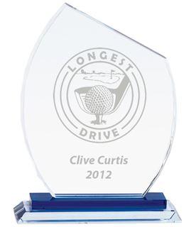 """Carnival Jade Glass Award 20.5cm (8"""")"""