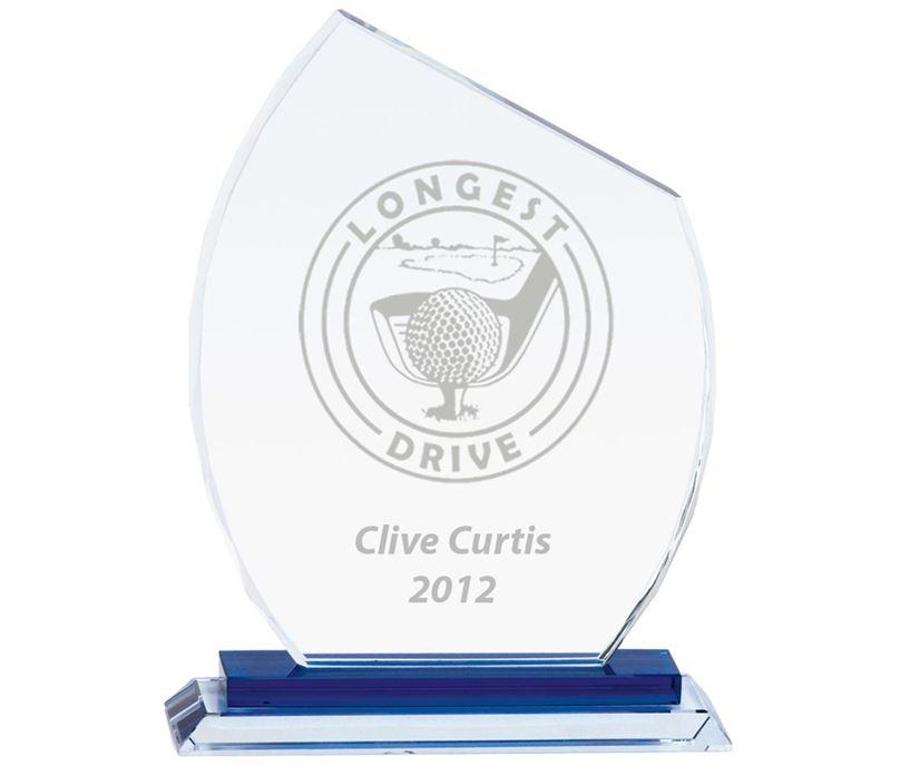 """Carnival Jade Glass Award 23cm (9"""")"""