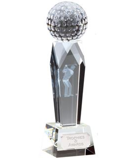 "Campbell Golf Optical Crystal Award 18cm (7"")"